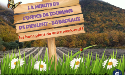 La Minute de l'Office de Tourisme du 2 avril 2021