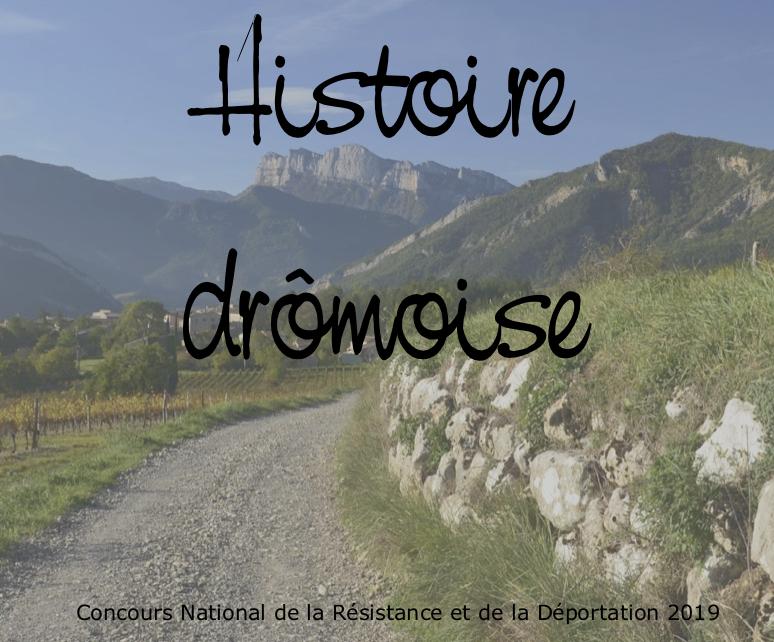 Histoire Drômoise concours national de la résistance
